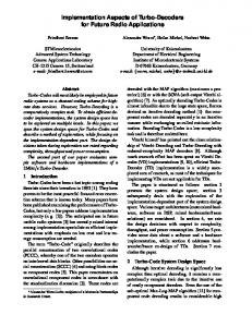 Implementation Aspects of Turbo-Decoders for ... - Semantic Scholar