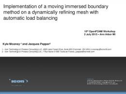 Implementation of a moving immersed boundary ...