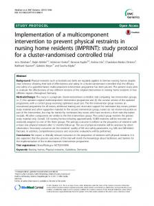 Implementation of a multicomponent intervention to prevent physical ...