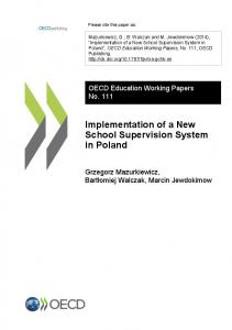Implementation of a New School Supervision System in Poland