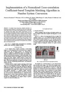 Implementation of a normalized cross-correlation coefficient-based