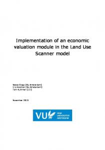 Implementation of an economic valuation module in the Land Use
