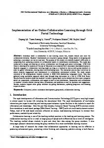 Implementation of an Online Collaborative Learning through Grid ...