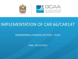 implementation of car 66/car147 - UAE General Civil Aviation Authority