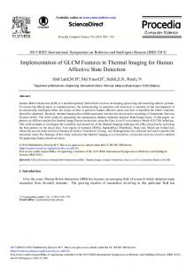Implementation of GLCM Features in Thermal ... - ScienceDirect.com
