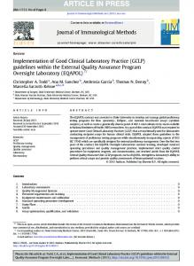 Implementation of Good Clinical Laboratory Practice