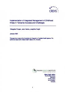 Implementation of Integrated Management of Childhood Illness in ...