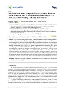 Implementation of Integrated Management Systems and ... - MDPI