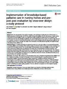 Implementation of knowledge-based palliative ... - BMC Palliative Care