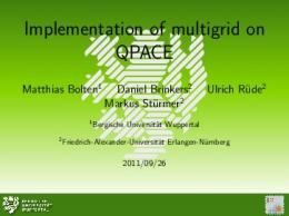 Implementation of multigrid on QPACE