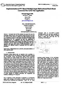 Implementation of PV Based Multiple Input Bidirectional Buck-Boost ...