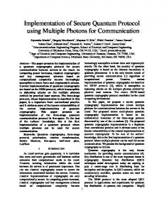 Implementation of Secure Quantum Protocol using Multiple Photons ...