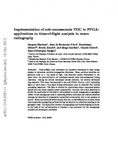 Implementation of sub-nanoseconds TDC in FPGA: applications to ...