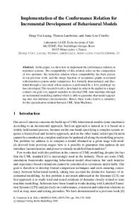Implementation of the Conformance Relation for