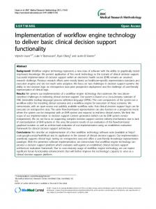 Implementation of workflow engine technology to ... - BioMedSearch