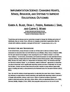 implementation science: changing hearts, minds, behavior, and ...