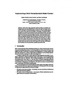 Implementing a Multi-Valued Symbolic Model Checker