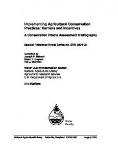 Implementing Agricultural Conservation Practices - CiteSeerX
