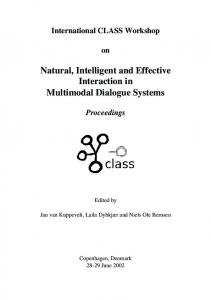 Implementing and evaluating a multimodal and multilingual tourist ...