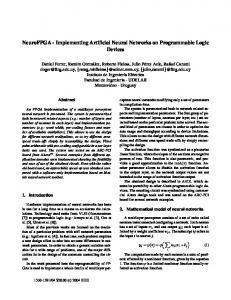 Implementing Artificial Neural Networks on Programmable Logic
