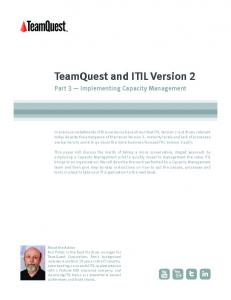 Implementing Capacity Management - TeamQuest