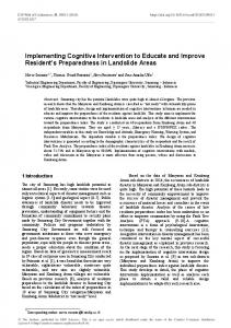 Implementing Cognitive Intervention to Educate and Improve ...