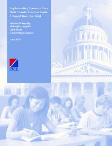 Implementing Common Core State Standards in California: A ... - Eric