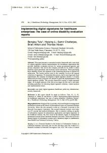 Implementing digital signatures for healthcare ...
