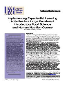 Implementing Experiential Learning Activities in a Large ... - CiteSeerX
