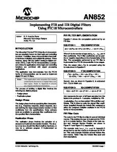 Implementing FIR and IIR Digital Filters Using PIC18 ... - Microchip