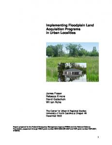 Implementing Floodplain Land Acquisition Programs in Urban ...