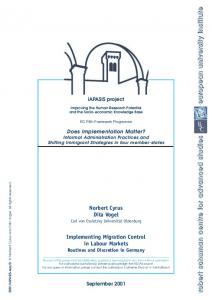 Implementing migration control in labour markets