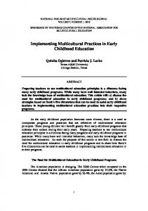 Implementing Multicultural Practices in Early Childhood Education ...