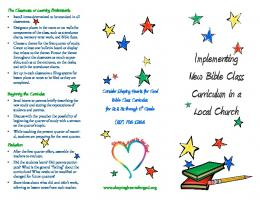 Implementing New Bible Class Curriculum in a Local Church