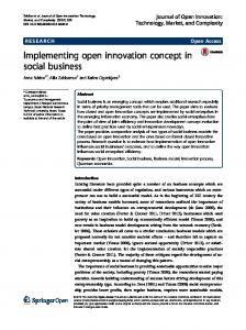 Implementing open innovation concept in social business