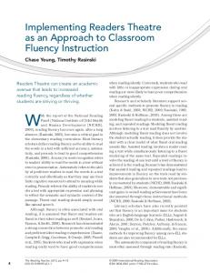 Implementing readers theatre as an approach to ... - Wiley Online Library