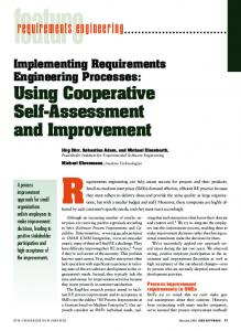 Implementing Requirements Engineering Processes - IEEE Xplore