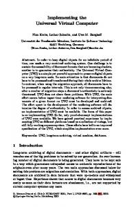 Implementing the Universal Virtual Computer - Springer Link