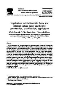 Implication in intuitionistic fuzzy and interval-valued fuzzy set theory ...