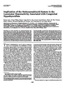 Implication of the Endocannabinoid System in the Locomotor ...
