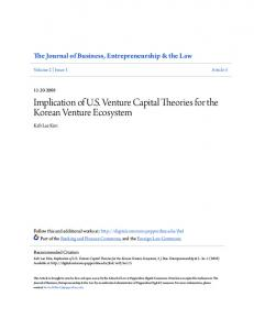 Implication of U.S. Venture Capital Theories for the Korean Venture ...