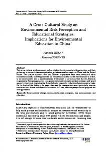 Implications for Environmental Education in - ERIC