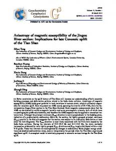 Implications for late Cenozoic uplift of the Tian ... - Wiley Online Library
