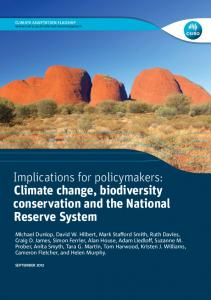 Implications for policymakers: Climate change - CSIRO Research ...