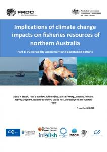 Implications of climate change impacts on fisheries resources of ... - frdc