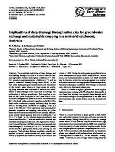 Implications of deep drainage through saline clay for groundwater