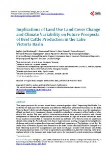 Implications of Land Use Land Cover Change and Climate Variability ...