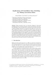 Implications of Probabilistic Data Modeling for Mining Association Rules