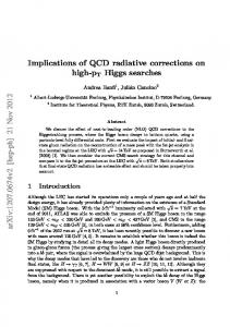 Implications of QCD radiative corrections on high-pT Higgs searches