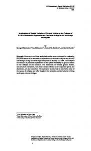 implications of spatial variation of ground motion - Semantic Scholar